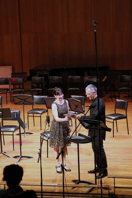 Presentation of the Sydney Conservatorium Centenary Commission Award as a result of winning the 2010 ISCM/IAMIC Young Composer Award. 6th September, 2014.