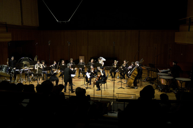 Sydney Conservatorium Commissioning Project - Terra Obscura: Concerto for Saxophone. Premiered by the Sydney Conservatorium Modern Music Ensemble, conductor Daryl Pratt and me as composer-performer.