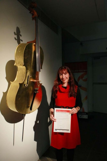 2010 International Society for Contemporary Music (ISCM/IAMIC) Young Composer Award for my solo soprano saxophone piece 'Sound Box'. Campbelltown Performing Arts Centre - 8 May 2010. Photo Cr: Bridget Elliot.
