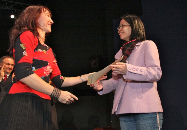 2011 ISCM World New Music Days Fesitival - Zagreb, Croatia Handing over the ISCM-IAMIC Young Award to a new winner.