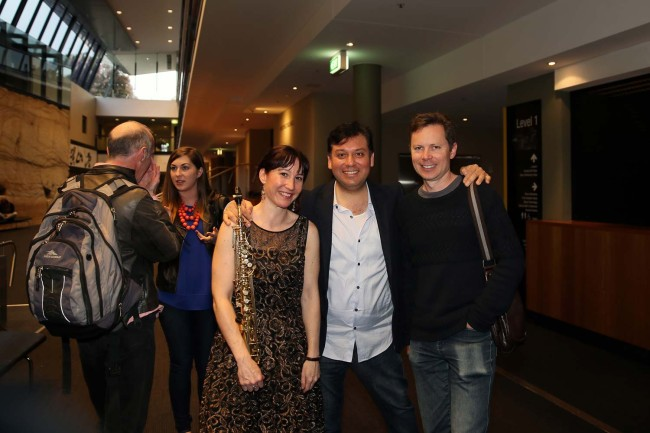 Post Concerto - With amazing colleagues, Daniel Rojas & James Nightingale.