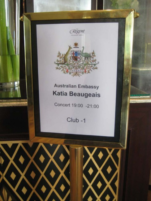 Great Australian embassy sign for my recital featuring Australian Music!