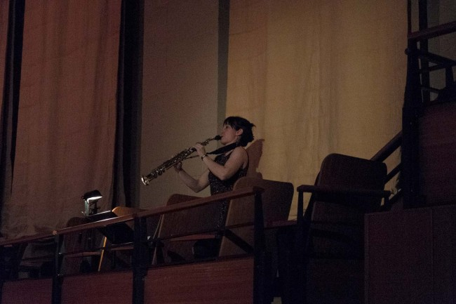 Terra Obscura: Concerto for Saxophone - Playing from the balcony.