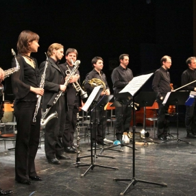 2011 Zagreb Biennale, Closing Ceremony Concert. Ensemble Zeitfluss from Graz, Austria with conductor Edo Micic (far right) following the premiere of 'Manifesto pour la Paix'.