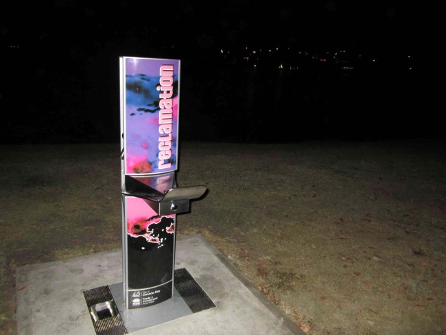 Cool water fountains around the place with the Twilight Festival design work!
