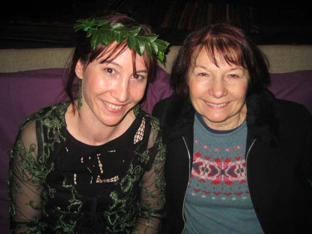 With my beautiful French mum who had just arrived from France - a 28 hour flight!