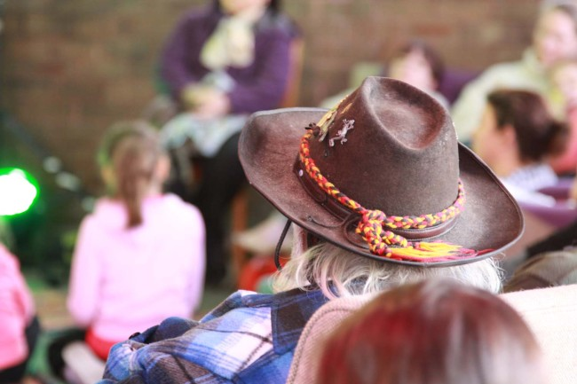 What a great photo! Someone came along with their Akubra hat ! Such a great Australian Icon!