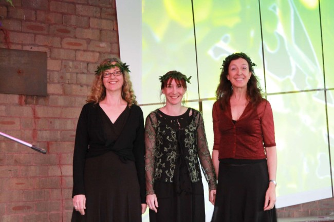 Premiere of By the Water for voice and nature sound installation. Performed by Halcyon. We got all dressed up for the occasion!