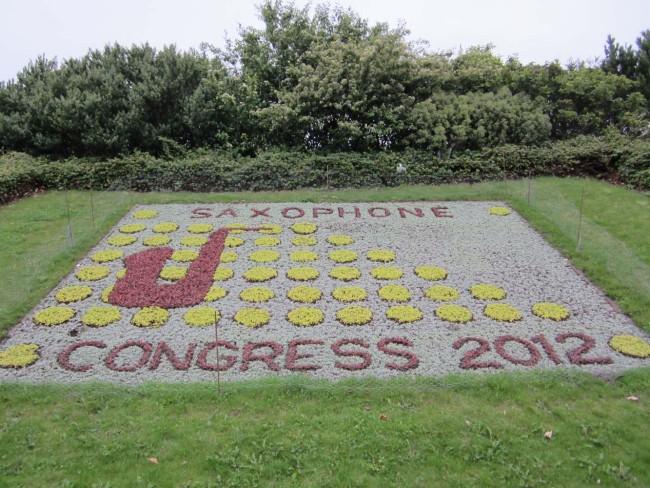 Incredible Garden logo design for the World Sax Congress