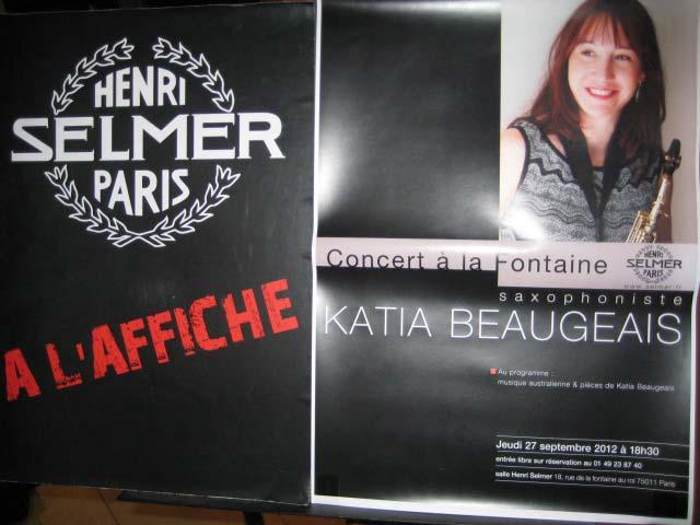 Poster outside the Selmer Studio Showrooms!