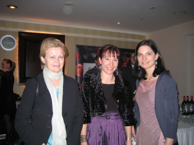 Recital of Australian music for Australian Embassy in Zagreb. With Milica Gacic (left) and Mirna Ores (Producer of 2011 ISCM Festival/Zagreb Biennale).