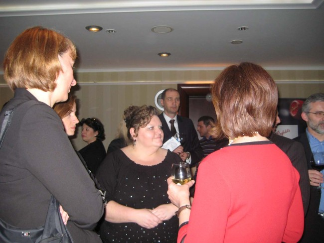 Public Diplomacy and Consular Officer, Dijana Grahovac (centre).