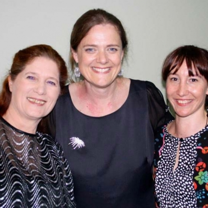 Wendy Dixon, Yvette Goodchild & me.