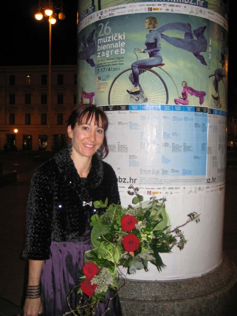 Found this big poster of the ISCM Festival/Zagreb Biennale in the middle of town after my Australian Embassy recital.