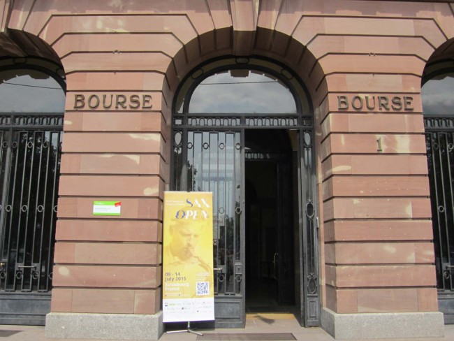 2nd performance of 'First Light at Uluru' for saxophone orchestra - Salle de la Bourse, Strasbourg.