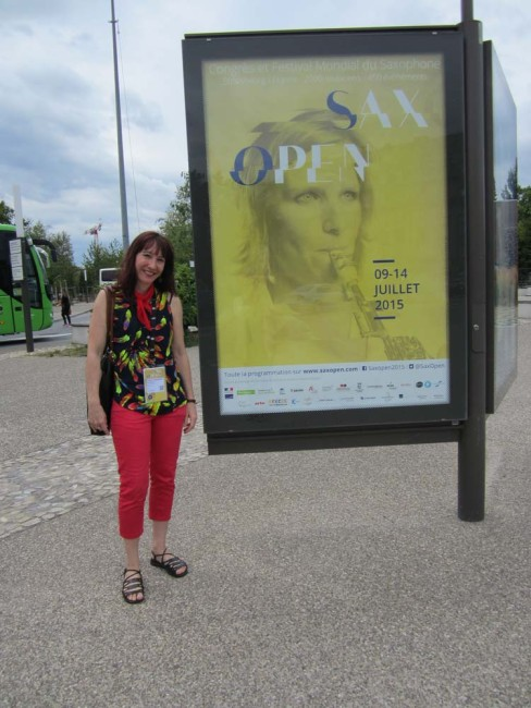 Great publicity of World Sax Congress throughout the streets of Strasbourg!