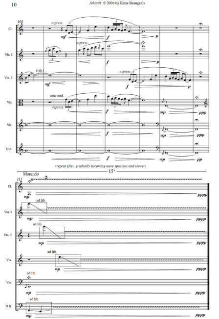 Atlantis for clarinet & string quintet last page