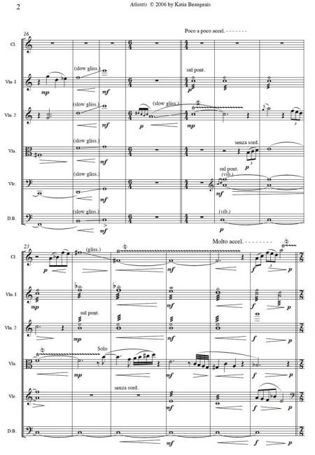 Atlantis for clarinet & string quintet p.2