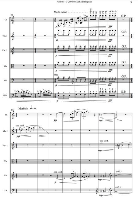 Atlantis for clarinet & string quintet p.9