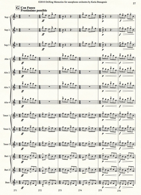 Drifting Memories for saxophone orchestra p.57
