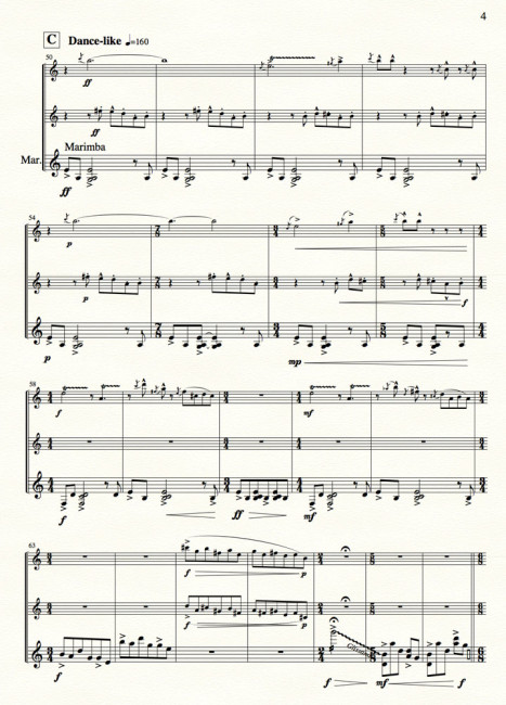 Reflections in the Dark for clari, flute, percussion - Movt I p.4
