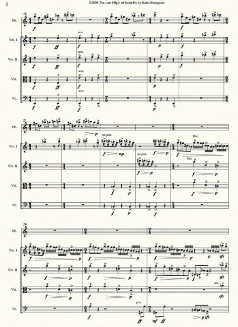 Last Flight of Saint-Ex for oboe & string quartet p.2