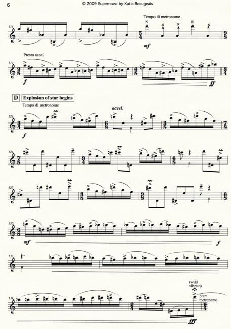 Supernova for solo oboe & metronome p.6
