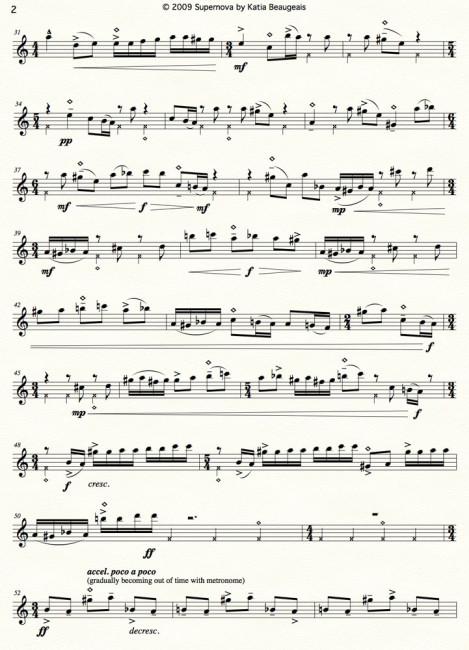 Supernova for solo oboe & metronome p.2