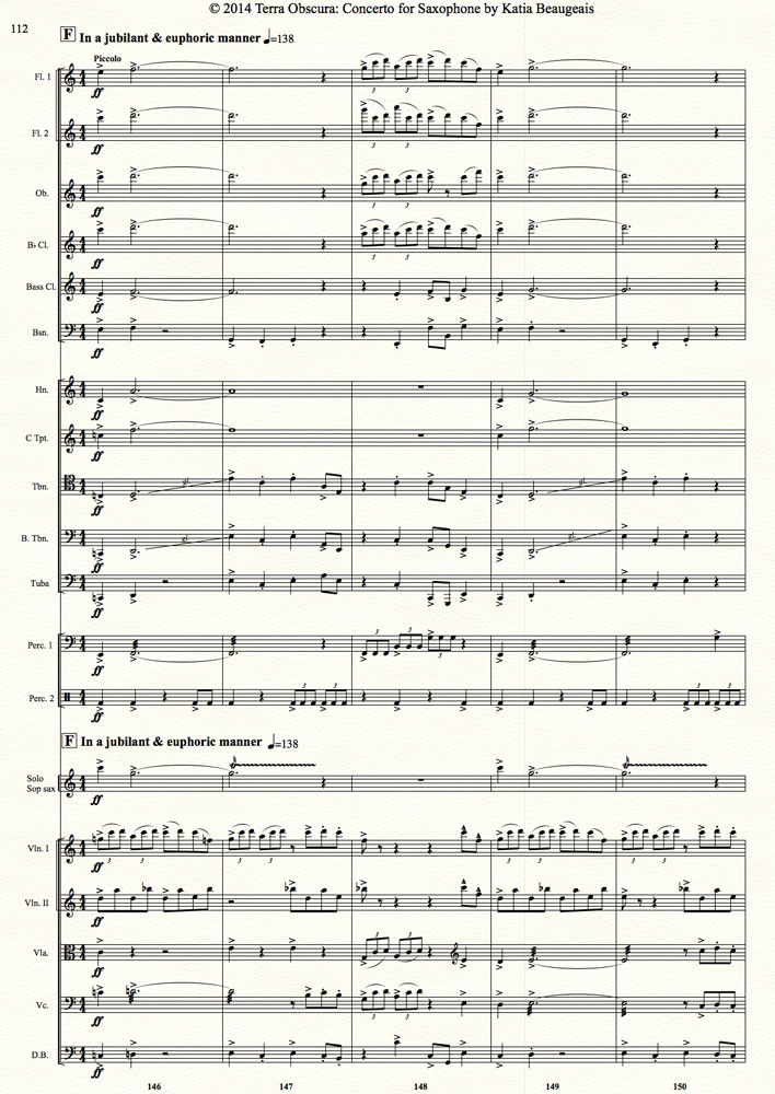 All Music Chords saxophone solo sheet music : Terra Obscura: Concerto for Saxophone for solo saxophone & chamber ...