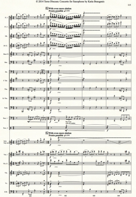 Movt IV p.115 - Terra Obscura: Concerto for Saxophone for solo saxophone & chamber orchestra