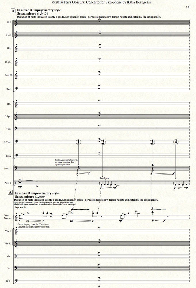 Terra Obscura: Concerto for Saxophone for solo saxophone & chamber ...