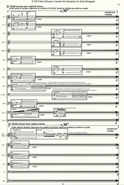 Movt III p.73 - Terra Obscura: Concerto for Saxophone for solo saxophone & chamber orchestra