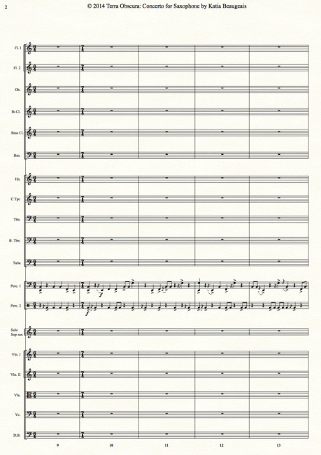Terra Obscura: Concerto for Saxophone for solo saxophone & chamber orchestra- Movt I p.2