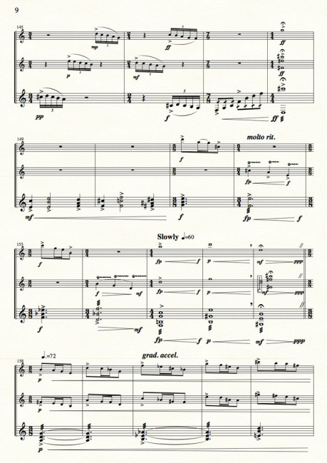 Reflections in the Dark for clari, flute, percussion - Movt I p.9