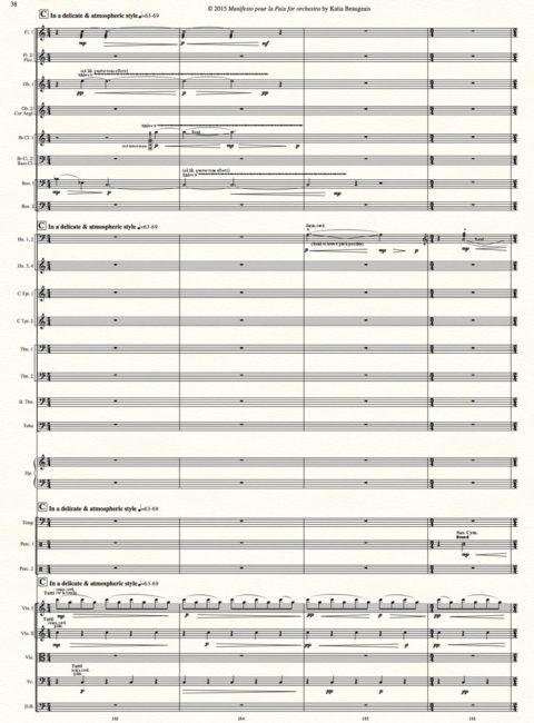 Manifesto pour la Paix for orchestra p.38.