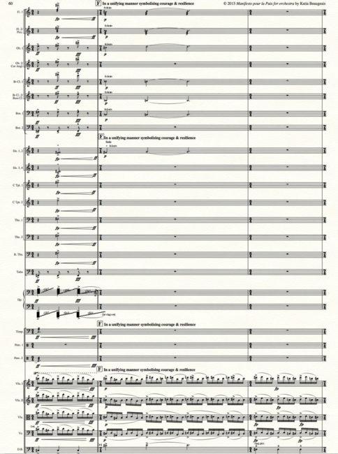Manifesto pour la Paix for orchestra p.60.