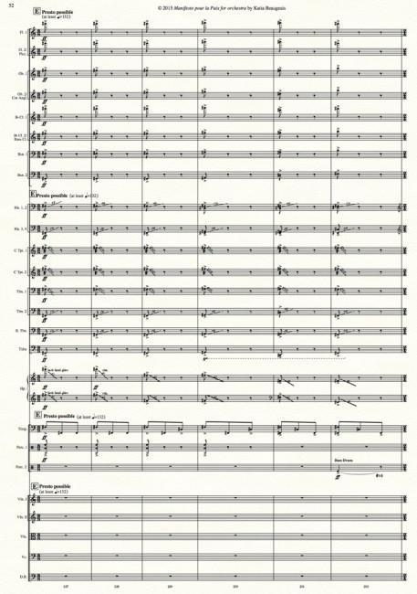 Manifesto pour la Paix for orchestra p.52