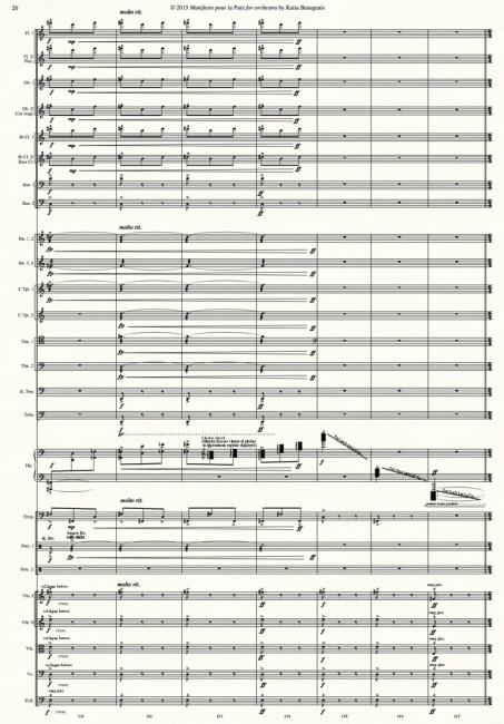 Manifesto pour la Paix for orchestra p.26