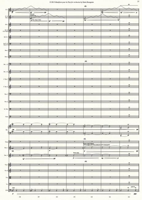 Manifesto pour la Paix for orchestra p.37