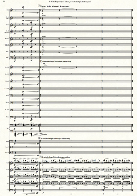 Manifesto pour la Paix for orchestra p.60