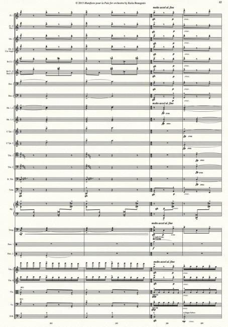 Manifesto pour la Paix for orchestra p.65