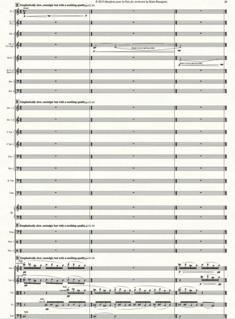 Manifesto pour la Paix for orchestra p.29.