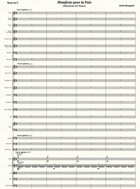 Manifesto pour la Paix for orchestra