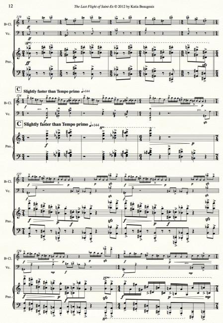 Last Flight of Saint-Ex - Clari, Cello, piano. Figure C p.12