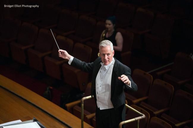 Conductor Dr John Lynch - 'First Light at Uluru' Wind Symphony premiere.