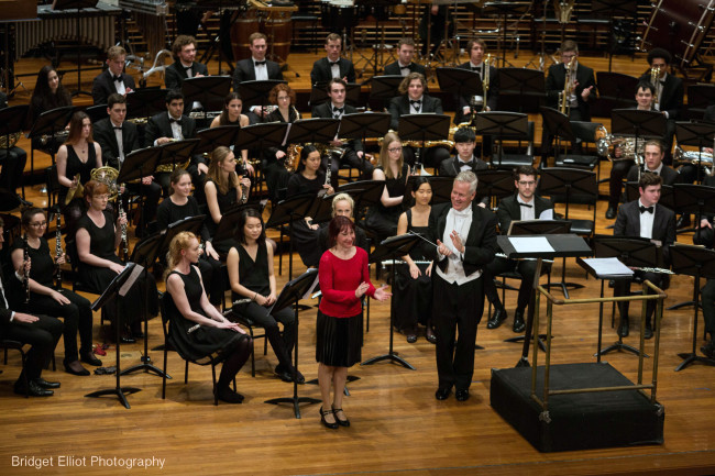 Overwhelmed by the applause - 'First Light at Uluru' Wind Symphony premiere.
