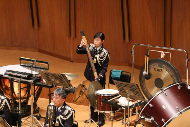Rainstick player, Miss Ayami Nakama, Japan Ground Self Defense Force Central Band
